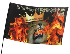 The Lord Destroys Evil Worship Flag