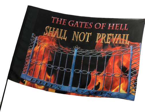 The Gates of Hell Shall Not Prevail Worship Flag