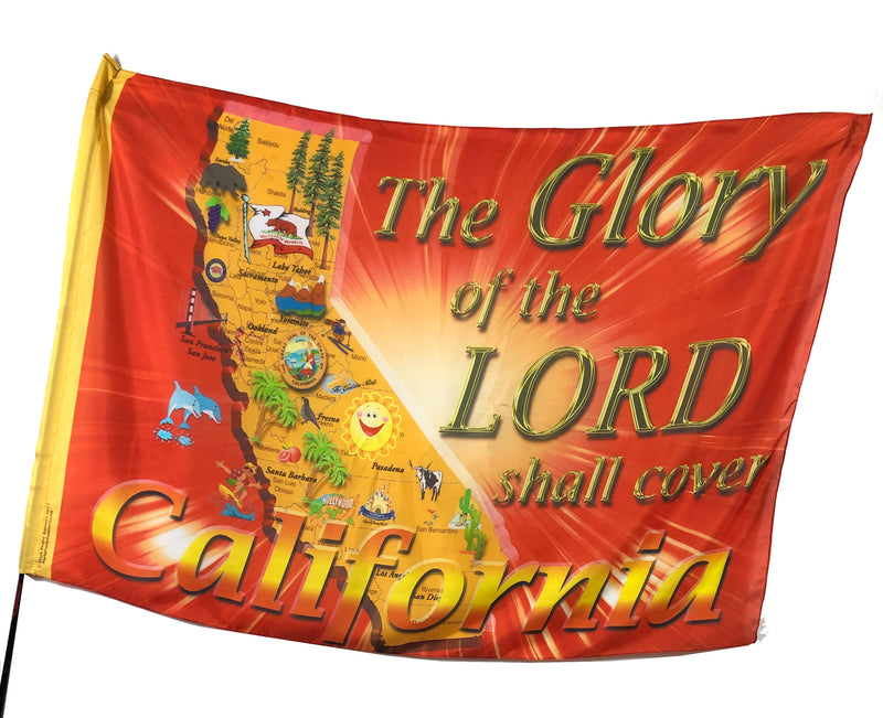 Glory of the Lord Shall Cover California Worship Flag