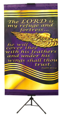 The Lord is My Refuge and Fortress Wall Banner