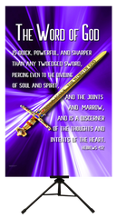The Word of God Vertical Banner