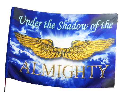 Under the Shadow of the Almighty Worship Flag