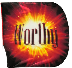 Jesus/Worthy (red burst) Wing Flag Set