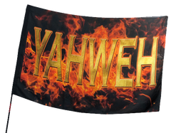 Yahweh Fire Worship Flag