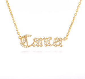 Cancer - Iced-Out Zodiac Necklace