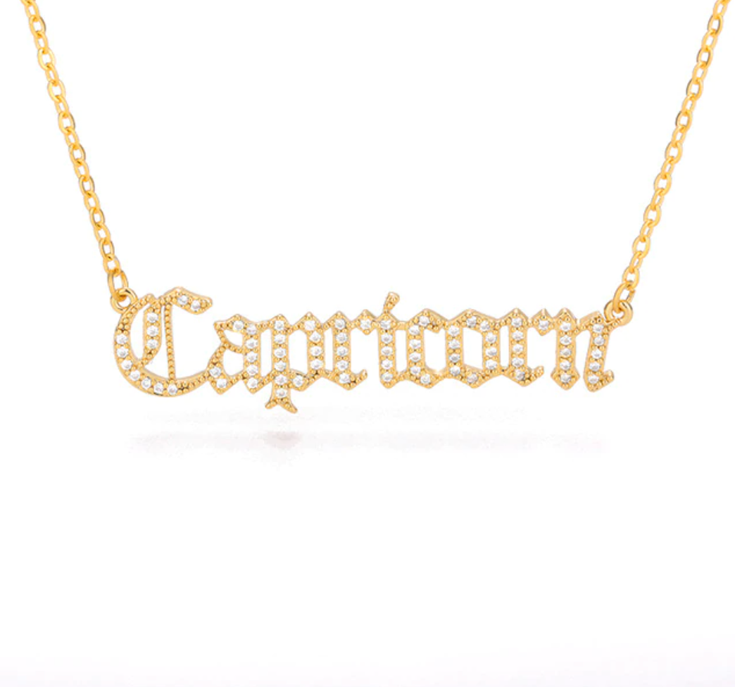 Capricorn - Iced-Out Zodiac Necklace