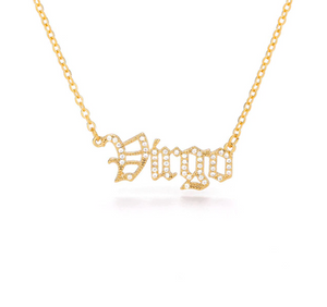 Virgo - Iced-Out Zodiac Necklace