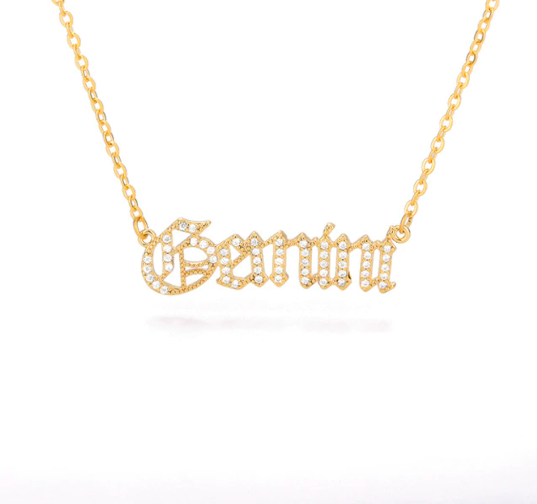 Gemini - Iced-Out Zodiac Necklace