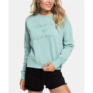 ROXY WOMENS WAVES OF CHANGE FLEECE SWEATSHIRT