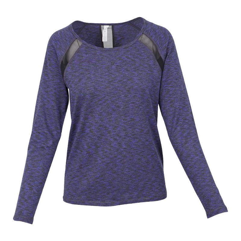 ideology Womens L/S T shirt With Back Net Trim