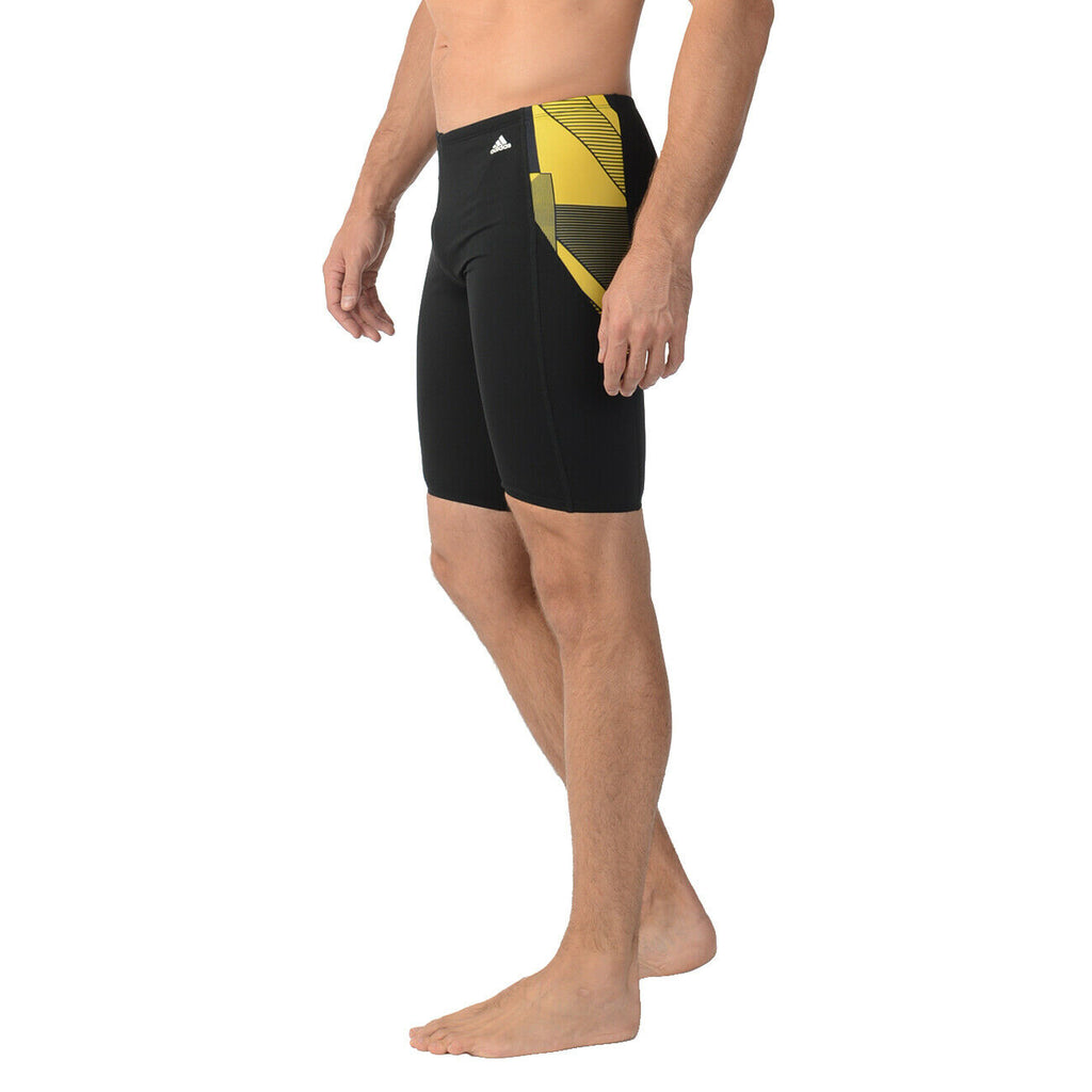 ADIDAS SPORT DNA SWIM BOXER TRUNK BOYS YOUTH TEENS SIZE BLK/ YELLOW