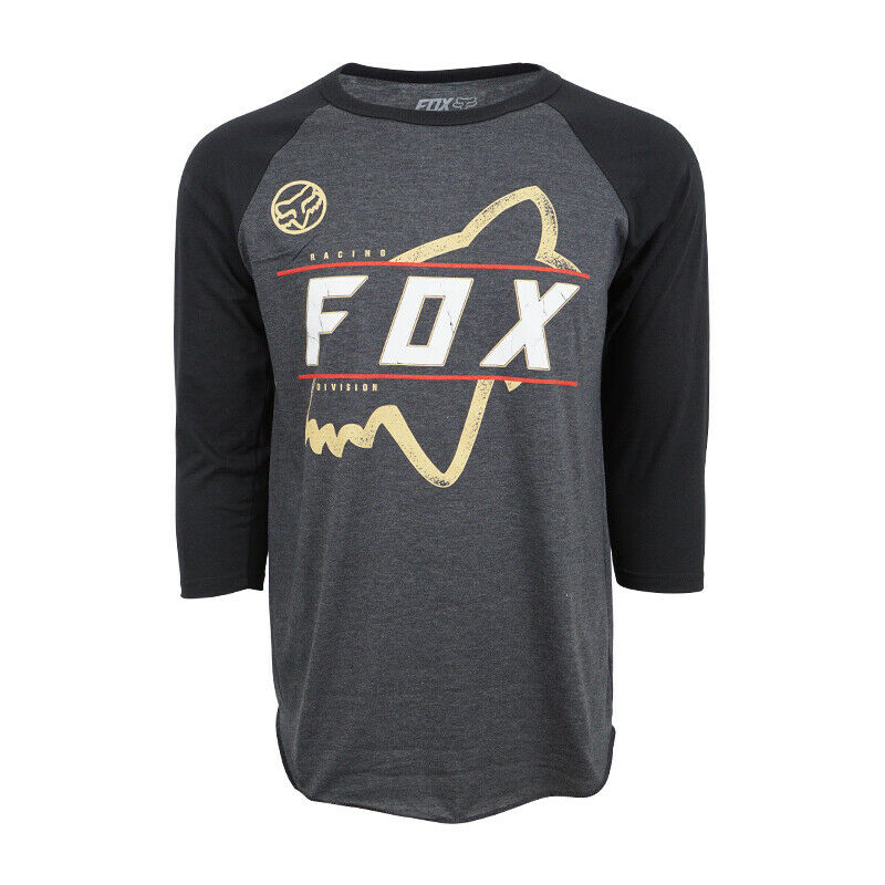 FOX RACING MENS RAGLAN DIVISION T SHIRT