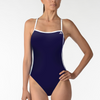 ADIDAS WOMENS 1PIECE 3 STRIP SOLID C BACK SWIMSUIT NAVY