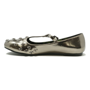 ABBEY DAWN WOMENS  TOUGH CROWD T BAR FLAT PEWTER