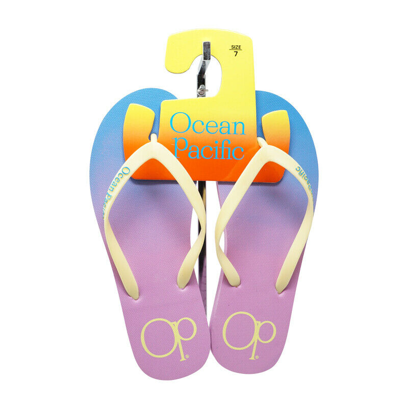 OP OCEAN PACIFIC WOMENS BEACH FLIP FLOP TWO TONE