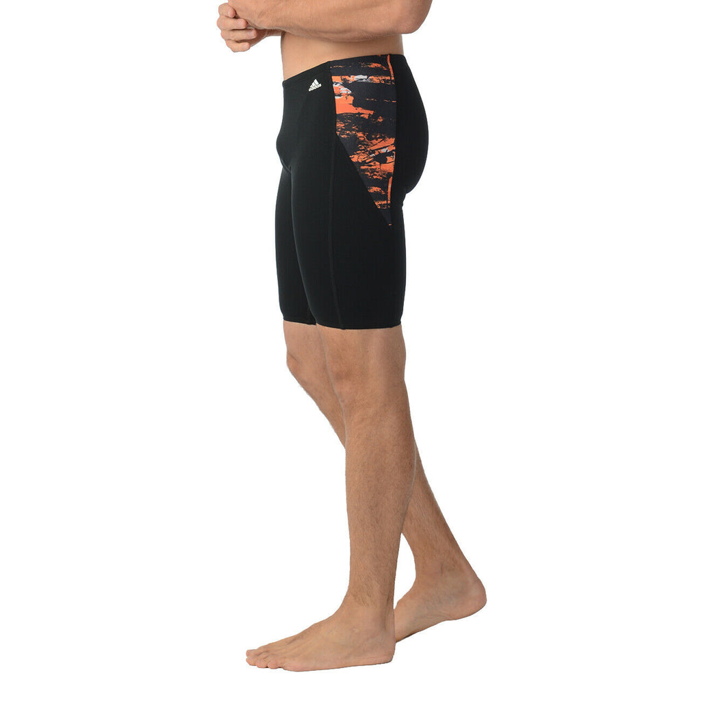 Adidas Mens ER Jammer Swim Boxer Trunks Shorts ORANGE