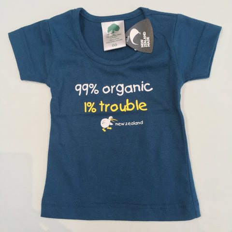 Infant/Toddler Tee Shirt - 1% Trouble - Blue
