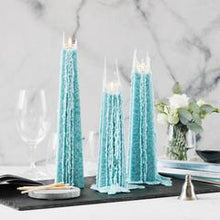 Load image into Gallery viewer, Ocean x 3 Icicle Candles - Burning