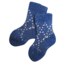 Load image into Gallery viewer, Merino Possum Socks - 6-12 months - Blue