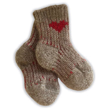 Load image into Gallery viewer, Merino Possum Socks - 6-12 months - Red Heart