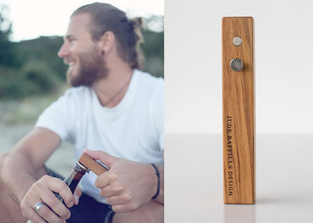 Rimu & Nail Bottle Opener by Jude Raffills