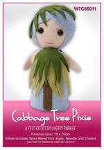 Load image into Gallery viewer, NZ Flora & Fauna Felt Kits - Cabbage Tree Pixie