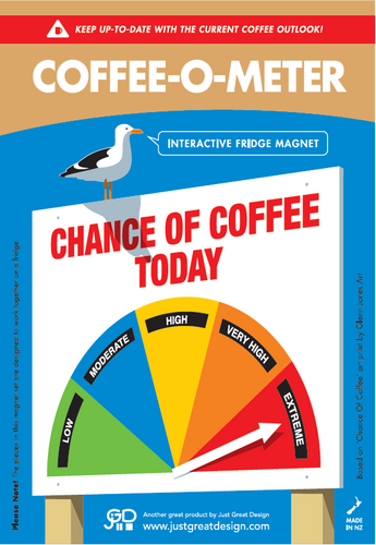 Coffee-O-Meter Fridge Magnet