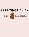 Infant/Toddler Tee Shirt - Free Range Chick - Pale Pink