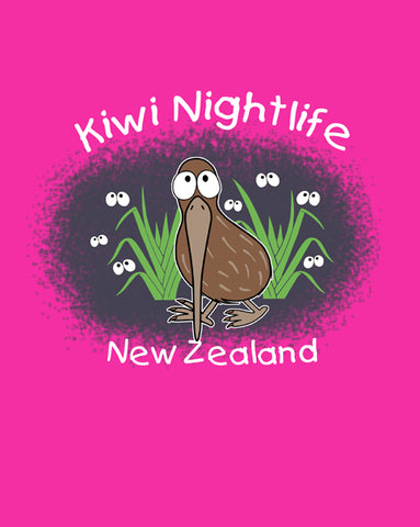 Kiwi Night Life Children's Tee Shirt - Glow in the Dark
