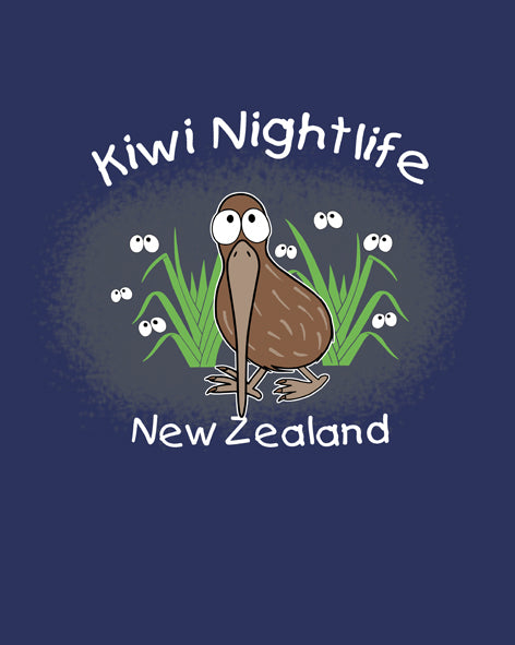 Kid's Tee - Kiwi Nightlife - Navy