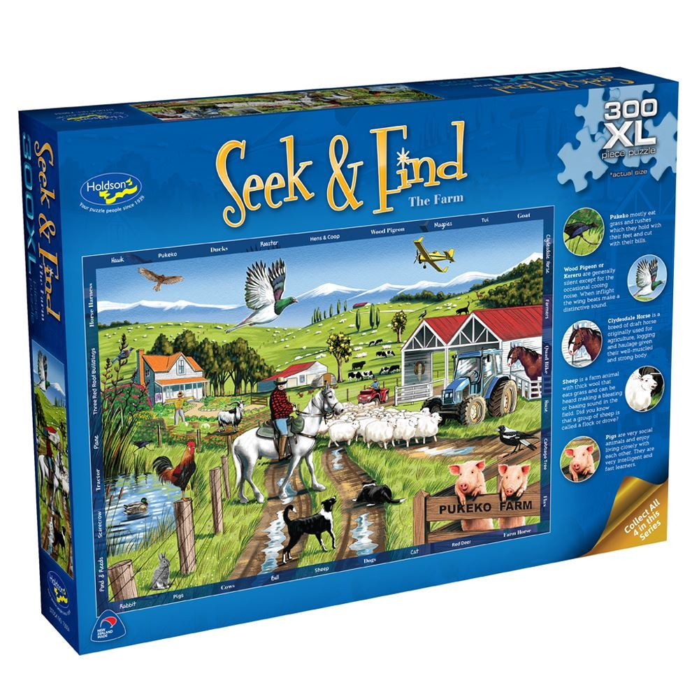 Seek & Find Farm Puzzle - 300 pieces - XL