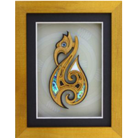 Framed Fish Hook Wall Art