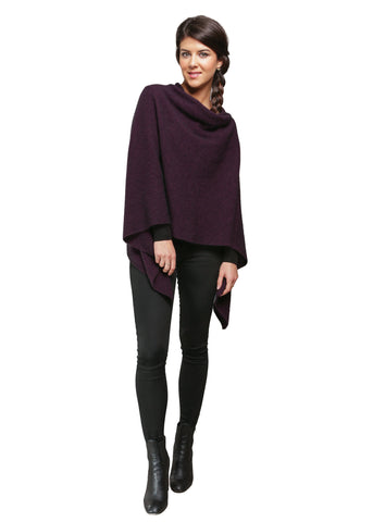 Two Way Poncho in Grape