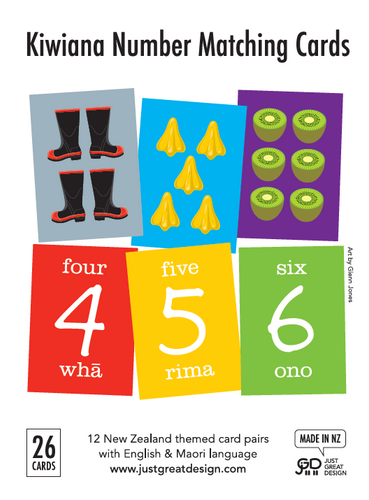 Kiwiana Number Cards