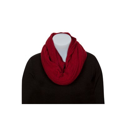 Lace Endless Scarf - Berry