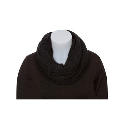 Lace Endless Scarf -  Black
