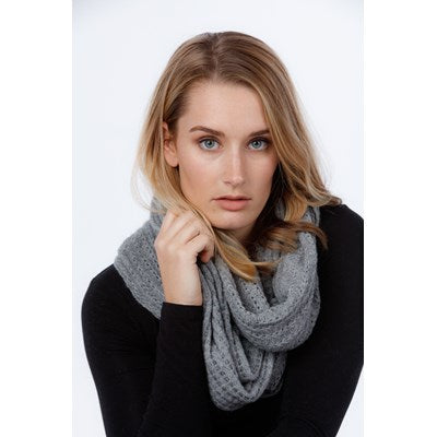 Lace Endless Scarf - Silver