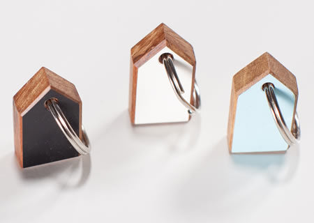 Rimu Little House Key Ring by Jude Raffills Available in 5 colours