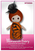 Load image into Gallery viewer, NZ Flora & Fauna Felt Kits - Monarch Fairy