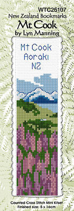 Cross Stitch Bookmark Kit - Mt. Cook