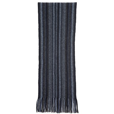 Multi Striped Scarf - Black