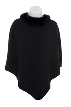 Load image into Gallery viewer, Possum Trim Poncho - Black