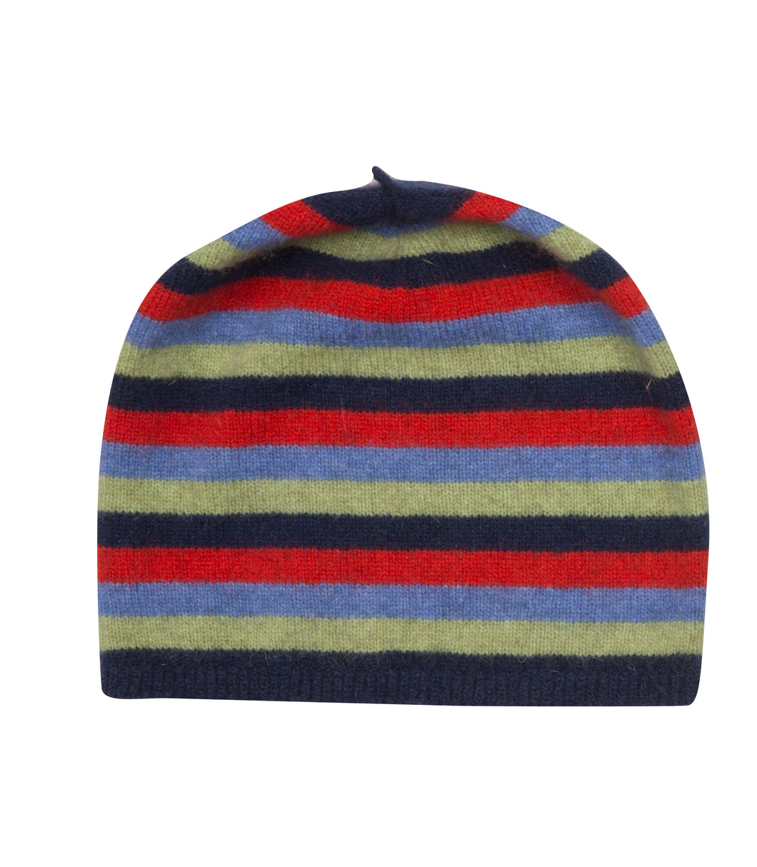 Kid's Striped Beanie - Twilight