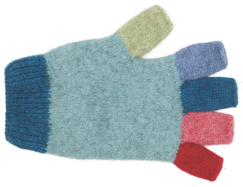Kid's Fingerless Gloves - Topaz