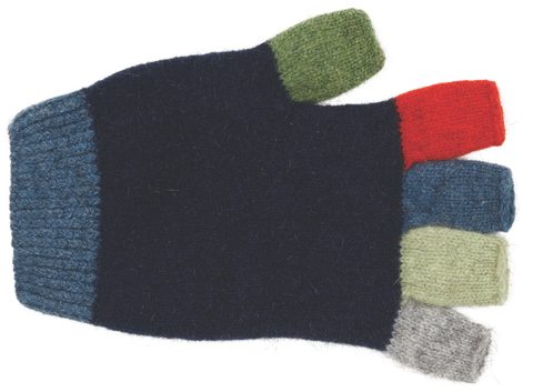 Kid's Fingerless Gloves - Twilight