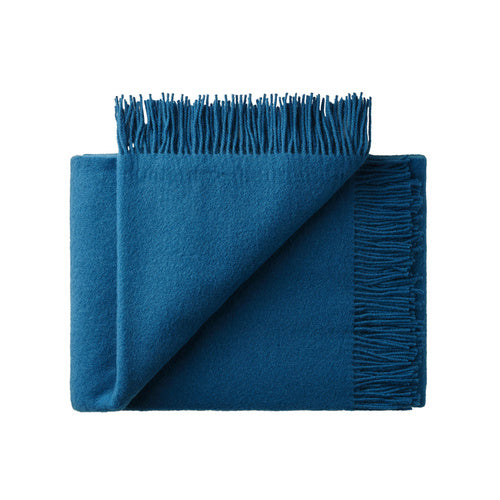 Nevis wool Throw - Petrol