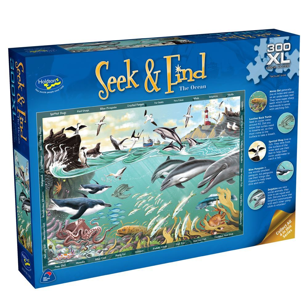 Seek & Find Puzzle - Ocean - 300 pieces - XL