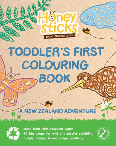 Toddler's First Colouring Book - A New Zealand Adventure by Honeysticks