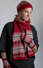 Load image into Gallery viewer, Possum Merino Fairisle Scarf -Rata