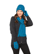 Load image into Gallery viewer, Plain Beanie, Scarf and Gloves in Pacific